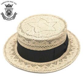 カンカン帽 メンズ 夏 ストローハット 大きいサイズ EDHAT エドハット ストローハット ベージュ ブラウン サイズ調節 帽子 春夏 ボーターハット 日本製
