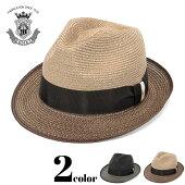 ハット春夏ストローハットメンズレディース帽子中折れハット麻大きいサイズ小さいサイズサイズ調節ブランドEDHATエドハットブラック黒ベージュつば短いおしゃれ中折れ帽麦わら帽子大人ギフト日本製送料無料