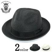 ストローハットメンズ夏ハットEDHATエドハットつば広中折れハットブラックホワイト大きいサイズ小さいサイズ帽子レディース