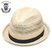 ストローハットメンズ春夏ベージュ天然草日本製EDOHATエドハット中折れハット麦わら帽子短いつば