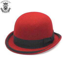 719e74abeee208 ボーラーハット メンズ レディース 赤 レッド 秋冬 ウール フェルト 山高帽 ハット EDHAT エドハット トラディショナル ダービー