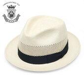 ストローハットメンズレディース帽子パナマハット春夏ハットパナマ帽EDHATエドハットベージュナチュラルシンプル無地紳士大きいサイズ小さいサイズサイズ調節フォーマル送料無料