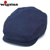 ハンチングメンズ夏リネン麻WIGENSウィゲーンスIvyClassicCapネイビー58cm60cm62cm帽子大きいサイズ小さいサイズ