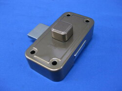 ミワロックU9-NDZ-1面付補助錠ブロンズ色受座付