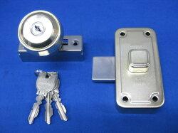 ミワロックU9-NDR-1面付補助錠ゴールド色受座付