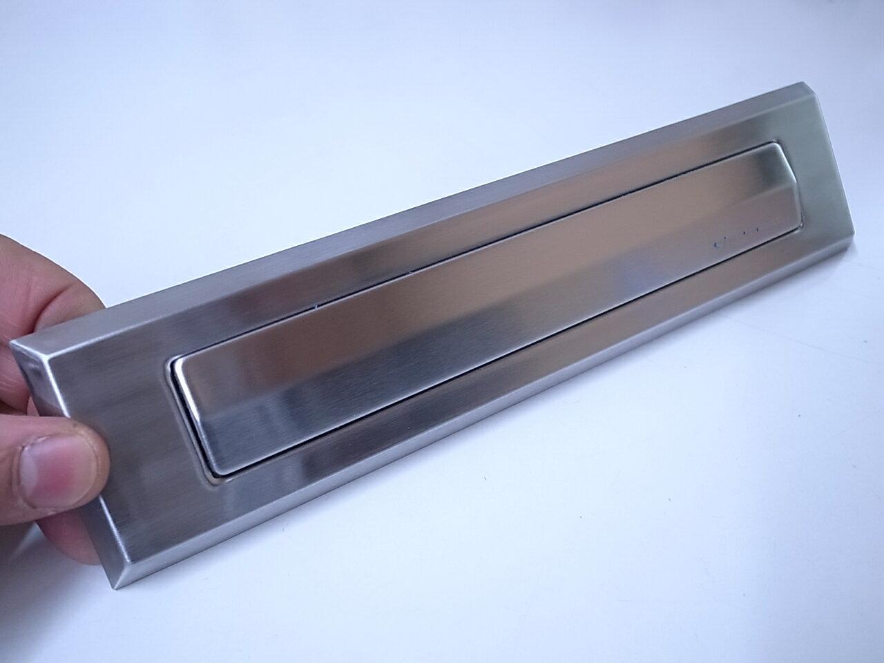 ドアポスト関連商品シブタニDP-80-1 ポスト口 ヘアライン色