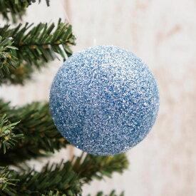 クリスマス飾り アスカ(asca) ボールオーナメント ブルー 1個 AX69191-009【ボール 小物 雑貨 グッズ オーナメント かわいい】
