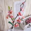 造花やよいの桃中ピンク1本FM5773