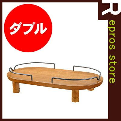 ペット用 木製テーブル ダブル ブラウン リッチェル▼a ペット グッズ ドッグ キャット 食器