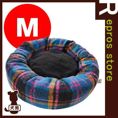【在庫セール】ネムネム [NemNem] チェックボアドーナツベッド M ブルー ビーチェ ▽b ペット グッズ 犬 ドッグ