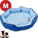 クマさんの接触冷感ベッド M ブルー マルカン ▼a ペット グッズ 犬 ドッグ 猫 キャット