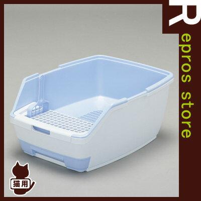 ◆1週間取り替えいらずネコトイレ セット大玉用 パープル TIO-530 アイリスオーヤマ ▼g ペット 猫 キャット