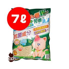 猫砂楽園 森の香ダブル 7L アースペット ▼a ペット グッズ 猫 キャット トイレ 国産品