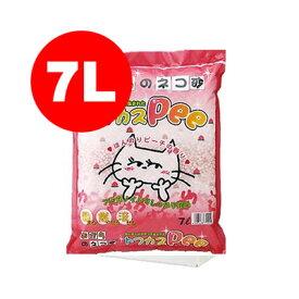 あす楽対応 トフカスPee 7L ピーチの香り ペグテック▼a ペット グッズ キャット トイレ 猫砂