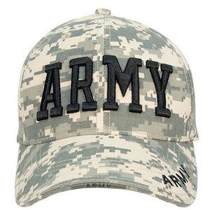 Rothco キャップ ARMY ACUカモ 帽子 アーミー | ベースボール野球帽 メンズ ワークミリタリーハット ミリタリーデジタルカモフラージュ ユニバーサルカモ 迷彩