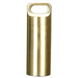 防水カプセル 真鍮 ペンダントトップ 薬ケース [ Sサイズ ] ペンダントヘッド ネックレス ブロンズ メディカル 救急 薬入れ 錠剤 衛生用品 通販 販売 チャーム