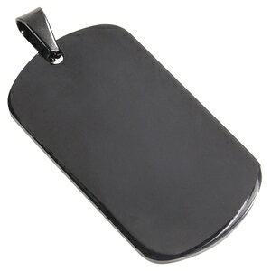 ステンレス製 ドッグタグプレート 5×2.7cm カラー [ ブラック / ツヤあり ] ドックタグ 認識票 DOG TAG ペンダントトップ つやあり 艶あり つやなし メンズアクセサリー ドッグタグパーツ 識別票