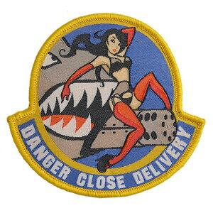 ミルスペックモンキー Danger Close ミリタリーパッチ ベルクロ [ フルカラー ] MSM MIL-SPEC MONKEY ワッペン アップリケ サバゲ? ミリタリーワッペン スリーブバッジ