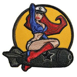 ミルスペックモンキー Pinup Girl 1 ミリタリーパッチ ベルクロ付き [ フルカラー ] MSM MIL-SPEC MONKEY ピンナップガール1 ワッペン アップリケ サバゲ? ミリタリーワッペン スリーブバッジ