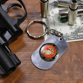 有狗標簽鑰匙圈USMC家徽4783海軍陸戰隊海軍陸戰隊開瓶器船塢標簽證明牌DOG TAG tsuyaari光澤,做光澤男子的配飾