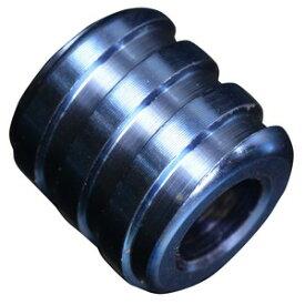 チタンビーズ 円柱型 10mm 螺旋 ナイフストラップ用 パーツ [ ブルー ] チタニウム らせん うずまき グラデーション 酸化皮膜 耐久性 軽量 耐食性 手芸用品 ブレスレット アクセサリー