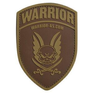 Warrior Assault Systems パッチ ロゴ シールド型 ベルクロ [ ダークアース ] ウォーリアーアサルトシステム ミリタリーパッチ ロゴマーク URL 盾型 ミリタリーワッペン アップリケ 記章 ラバー ゴム