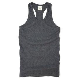 AVIREX タンクトップ 無地 デイリー バッククロス [ チャコールグレー / XLサイズ ] アヴィレックス アビレックス 6143503 インナー シャツ ランニングシャツ 袖なし スリーブレス