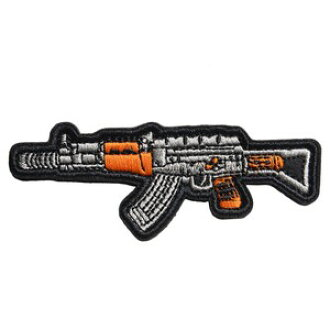 Military emblem AK-47 custom rifle embroidery Velcro AK47 folding-type  ノベスケハイダーミリタリーパッチアップリケ badge badge
