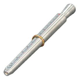 リングゲージ棒 4種規格測定 1号-36号対応 [ シルバー ] サイズゲージ棒 ゲージリングゲージ 指輪のサイズ測定 指ゲージ