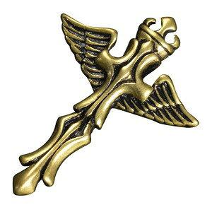 ペンダントトップ 十字架 チャーム 翼 黄銅 ネックレス 真鍮 ブラスキーホルダー メンズ チョーカー ペンダントヘッド 鋳物 鋳造