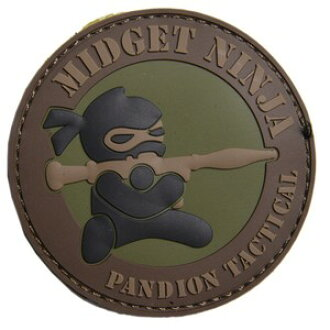 MSM MIL-SPEC MONKEY ninja dwarf ミリタリーワッペンアップリケサバゲ with the mil  specifications monkey PVC patch Midget Ninja RPG