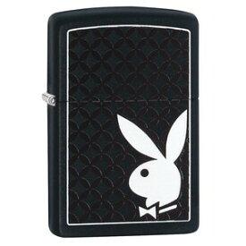 ZIPPO プレイボーイ ダイヤモンド柄 29578 マットブラック ジッポー オイルライター Playboy ダイヤモンドパターン Duo-Tone 黒 白