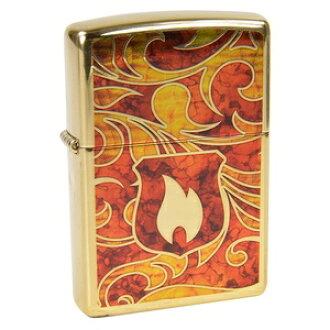 高波蘭黃銅 Zippo 打火機 ZIPPO 火焰 #28975