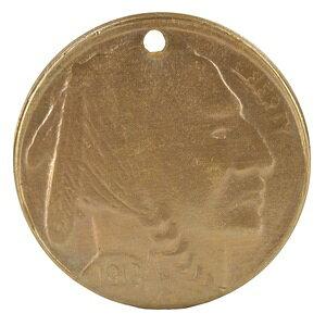 チャームパーツ ブレイブインディアンコイン P252 ブラスキーホルダー 男女兼用 チョーカー ペンダントヘッド 鋳物 鋳造