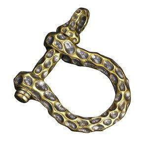 ペンダントトップ 蹄鉄モチーフ シャックル チャーム 黄銅 ネックレス 真鍮 ブラスキーホルダー ナスカン メンズ チョーカー ペンダントヘッド 鋳物 鋳造