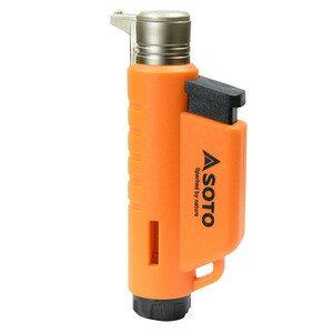SOTO ライター マイクロトーチ COMPACT ターボ式 ガス充てん式 [ オレンジ ] ソト ターボ炎 ターボライター ガス補充式 アウトドア用品 キャンプ用品 着火具