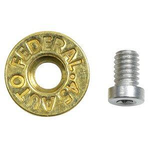 ワッシャー 真鍮製 弾丸刻印入り トルクスネジ付属 ハンドクラフト材 [ 小 ] ブラスワッシャー DIY アクセサリー 革細工 取り付けパーツ ハンドメイド シカゴスクリュー 組ネジ 組ねじ