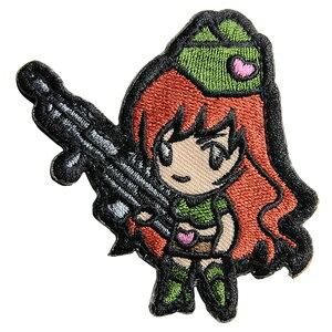 ミルスペックモンキー Gun Girl 1 ミリタリーパッチ ベルクロ付き [ ハイコントラスト ] MSM MIL-SPEC MONKEY ワッペン ガンガール アップリケ サバゲ? ミリタリーワッペン スリーブバッジ