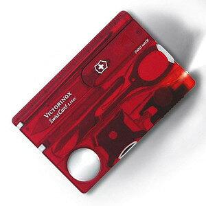 VICTORINOX マルチツール 0.7322.T2 スイスカードライトT2 BL [ クリアレッド ] Victorinox SwissCardLite ツールナイフ 十徳ナイフ キャンピングナイフ 万能ナイフ カードツールナイフ カードナイフ ナイフ