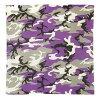迷彩頭巾 69 釐米正方形棉 [ultravioletcamo] 軍事頭巾手帕圍巾