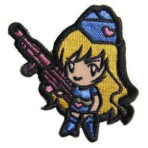 ミルスペックモンキー Gun Girl 1 ミリタリーパッチ ベルクロ付き [ ブルー ] MSM MIL-SPEC MONKEY ワッペン ガンガール アップリケ サバゲ? ミリタリーワッペン スリーブバッジ