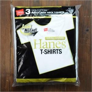 Hanes Tシャツ 半袖 無地 3枚組み ゴールドパック HM2155G [ Lサイズ ] ヘインズ タグレス アーミーシャツ アサルトシャツ TDUシャツ