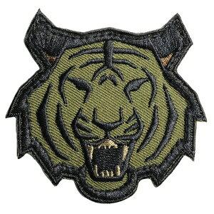 ミルスペックモンキー Tiger Head パッチ ベルクロ付き [ フォレスト ] ミリタリーワッペン ミリタリーパッチ アップリケ MIL-SPEC MONKEY タイガーヘッド スリーブバッジ