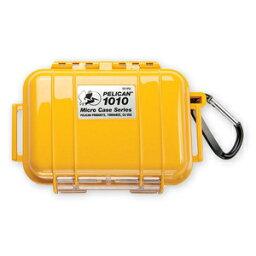 PELICAN微情况1010[固體黄色]CBK| 透明的行動電話數位相機情况保護情况潛水塑料箱
