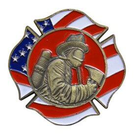 チャレンジコイン FIRE RESCUE マルタ十字型 消防 記念メダル Challenge Coin 記念コイン Maltese Cross Red Fire Rescue ファイヤーレスキュー 星条旗 亜鉛合金 彫刻 円形 透明ケース付き ミリタリーメダル ミリタリーコイン