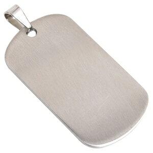 ステンレス製 ドッグタグプレート 5×2.7cm カラー [ シルバー / ツヤなし ] ドックタグ 認識票 DOG TAG ペンダントトップ つやあり 艶あり つやなし メンズアクセサリー ドッグタグパーツ 識別票