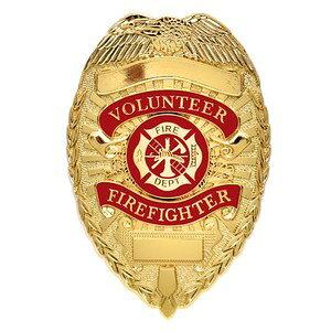 Rothco 消防バッジ FIRE FIGHTER デラックス [ ゴールド ] 消防署バッジ ファイヤーデパートメント ファイヤーファイター 盾型バッジ シールド型バッジ ポリスバッジ ポリスバッチ 警察グッズ ポ