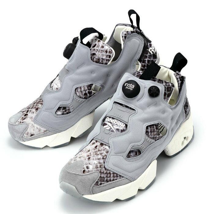 【レディース】Reebok × Disney WMNS INSTA PUMP FURY JB AQ9214 リーボック ディズニー インスタポンプ フューリー コラボ ジャングルブック カー ヘビ スニーカー グレー 靴 パイソン