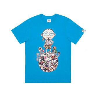 VANS x TAKASHI MURAKAMI TEE VN-03DH410 vans Murakami Takashi collaboration skull T shirt short sleeve blue