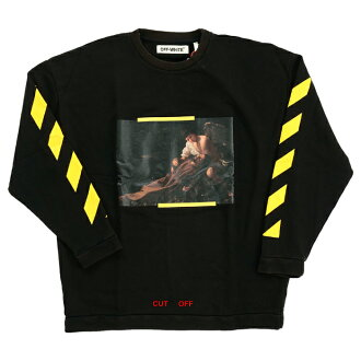 OFF-WHITE S.FRANCESCO CREWNECK off-white Francisco print crew neck sweat shirt trainer black black long sleeves